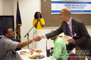 police appreciation dinners, world mission society church of god, washington dc, volunteer service day 2016